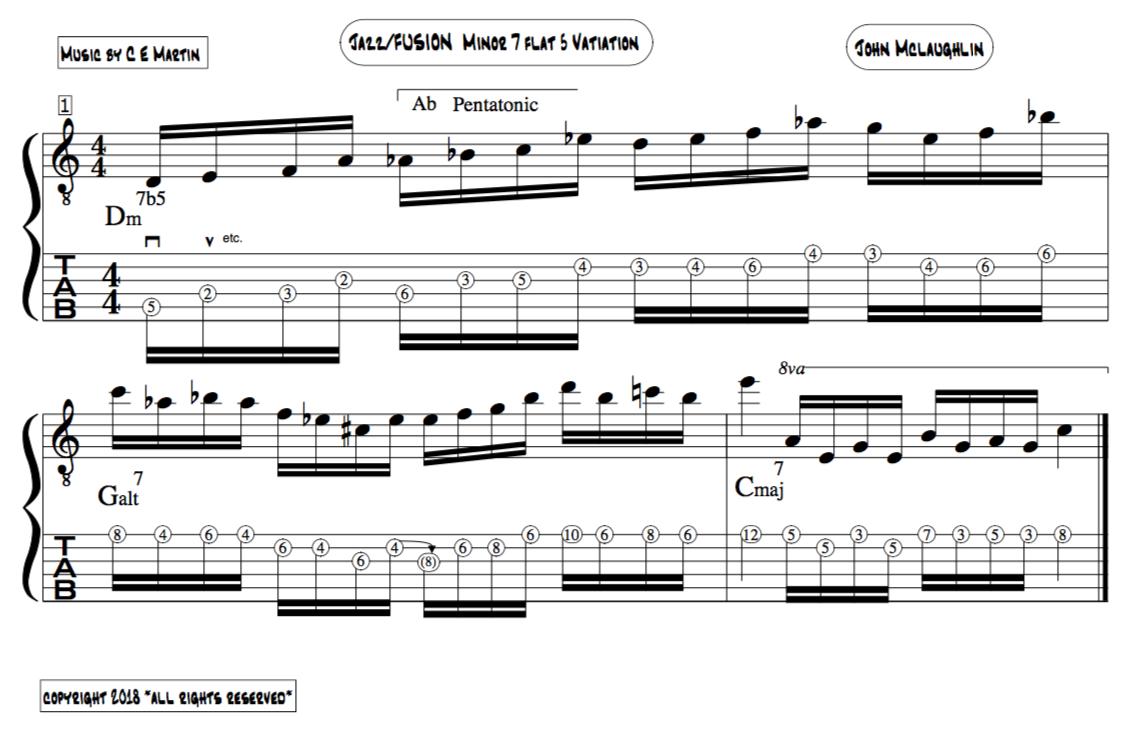 Altered scale jazz improvisation, jazz improviser lesson