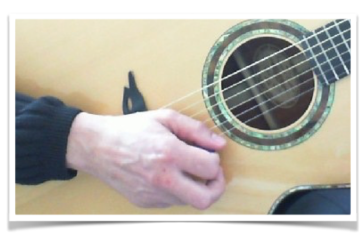 alternate picking plectrum right hand grip