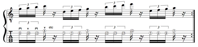alternate picking guitar exercise number 2 for beginners