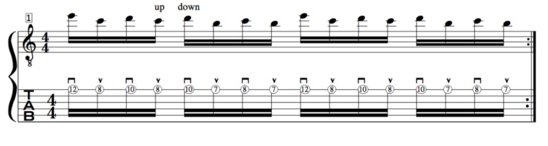 alternate picking guitar  1 string exercise