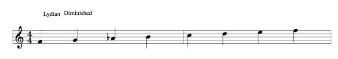 Lydian Diminished scale