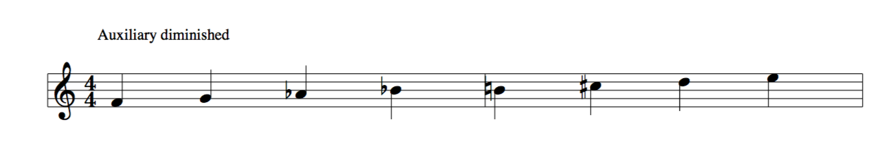 Auxilary diminished scale