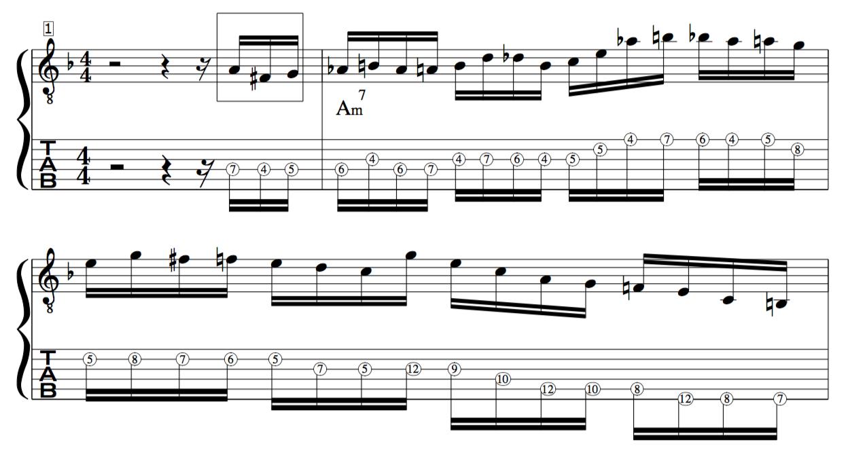 Don Mock target tones jazz improv line