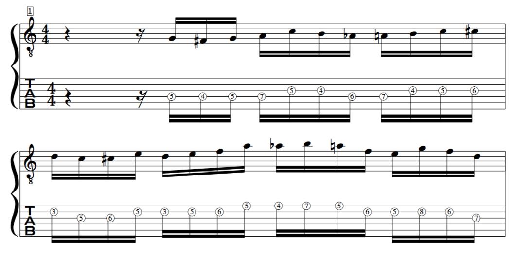 John Mclaughlin Target tones example