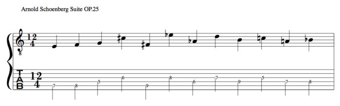 Schoenberg 12 tone row suite OP 25