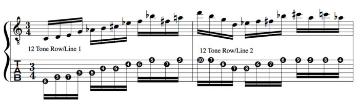 combining 12 tone Schoenberg rows to Jazz as heads