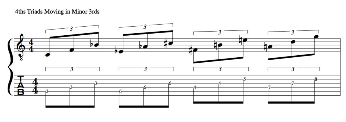 Jazz application moving in minor 3rds in schoenberg 12 tone rows