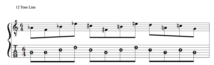jazz application using 12 tone rows of Schoenberg