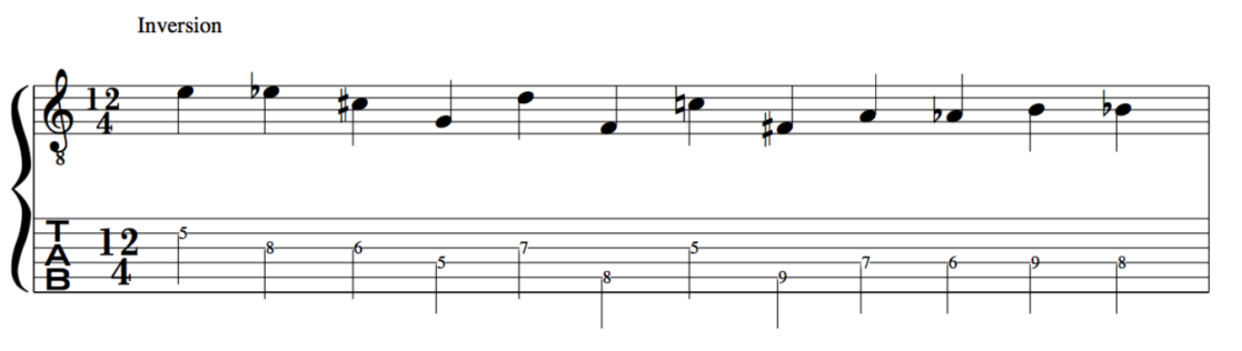 Inversion 12 tone row schoenberg