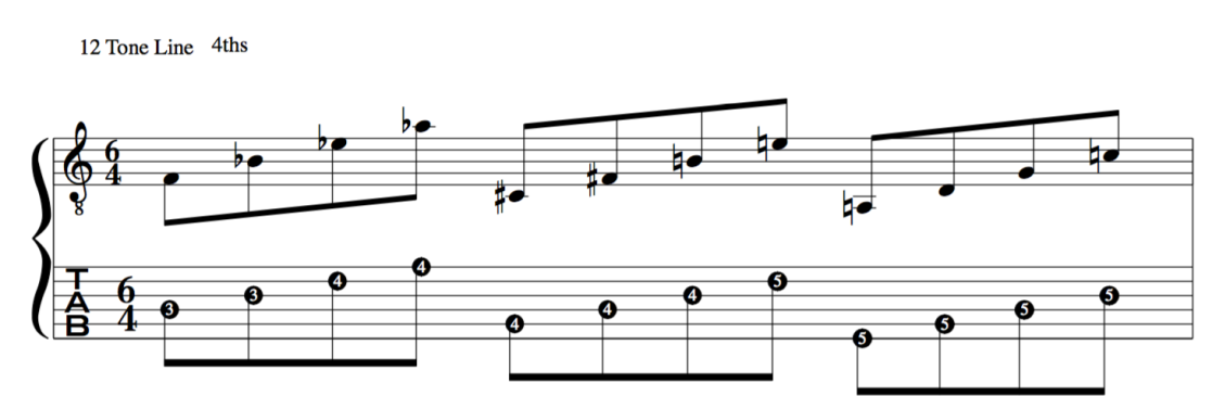 Jazz application in 4ths to 12 tone Schoenberg tone row