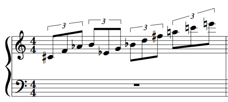 23rd chord 3 note cells 12 tone lesson example for jazz improvisation