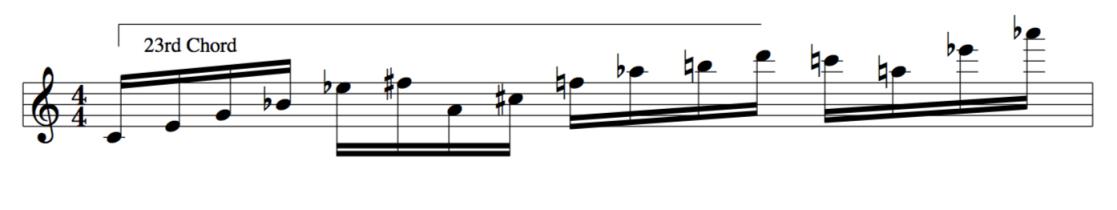 23rd chord improvised line for jazz improvisation lesson