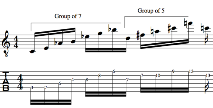 23 rd chord serial tone rows odd rhythmic groupings