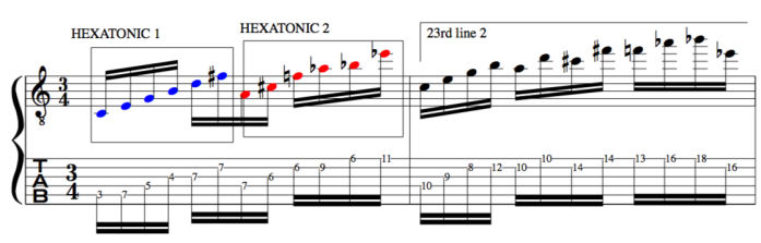 Hexatonic 23rd chord improvisation example