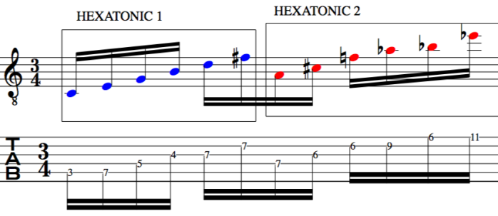 hexatonic 12 tone serialism line with the 23rd chord