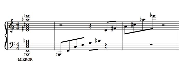 mirror harmony negative harmony 23rd chord
