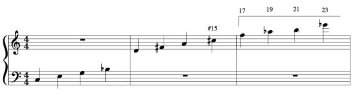 23rd chord Tertian harmony example