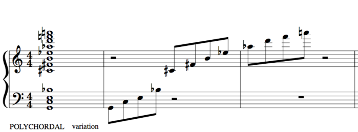 polychordal variation with the 23rd chord