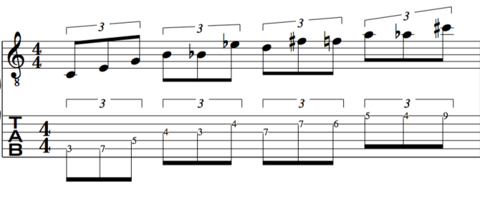 triplets 23rd chord example