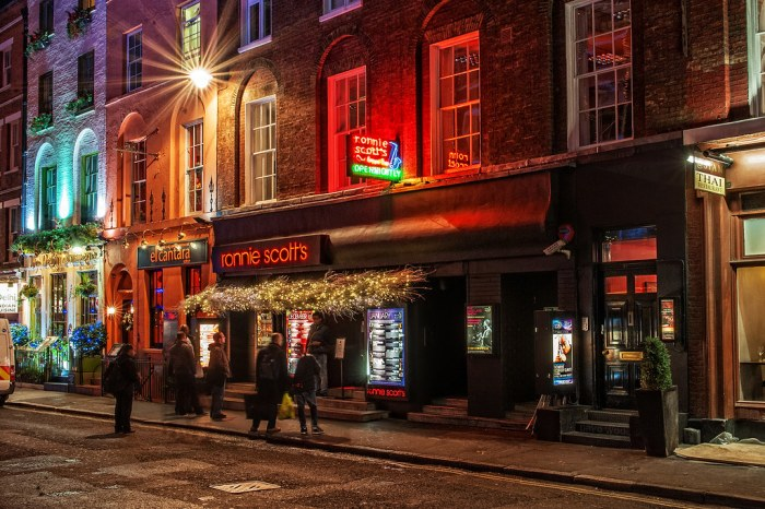 Ronnie Scott's  47 Frith St, Soho, London.