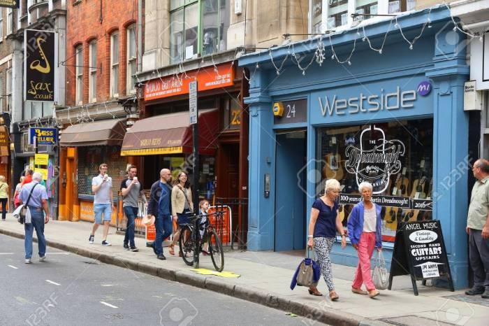 London Denmark Street music shops