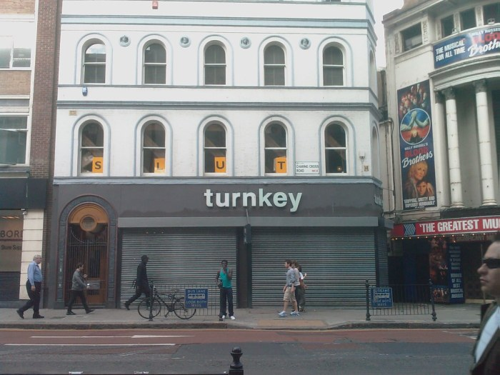 Turnkey Shop Shut and closed after many successful years