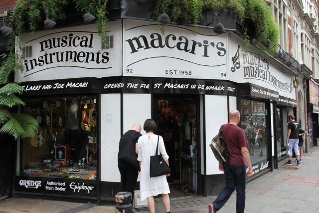 macaris-charing-cross-road-guitars and musical instruments shop