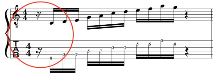 off beat alternate picking john Mclaughlin guitar exercise