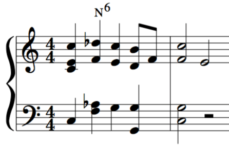 Neapolitan 6th chord lesson example