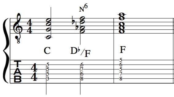 Neapolitan 6th chord  modern