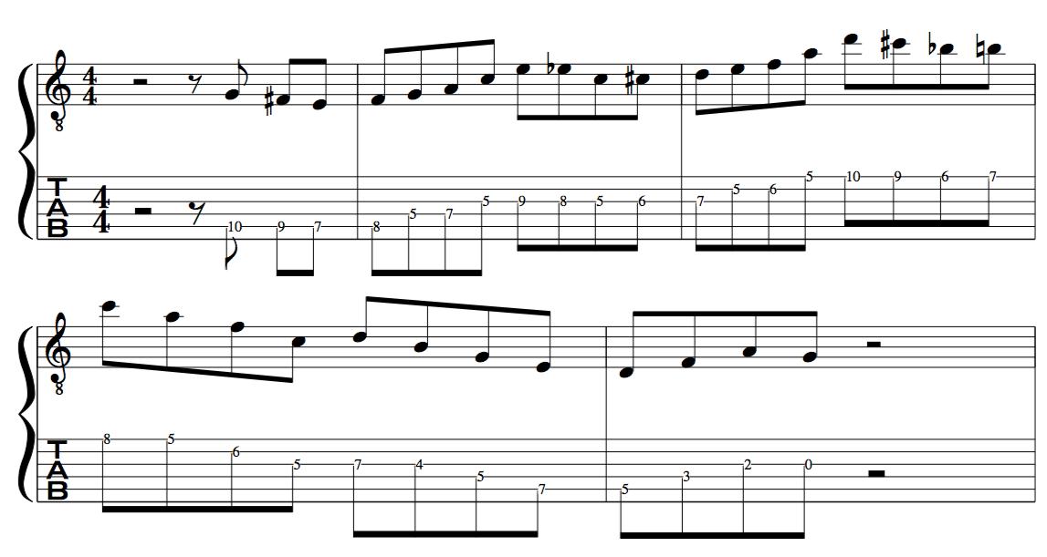 enclosure /target tones set up off the beat for jazz improvisation