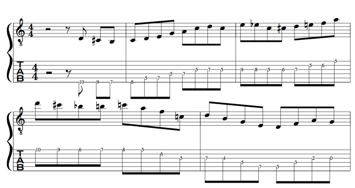 Target Tones jazz improvisation