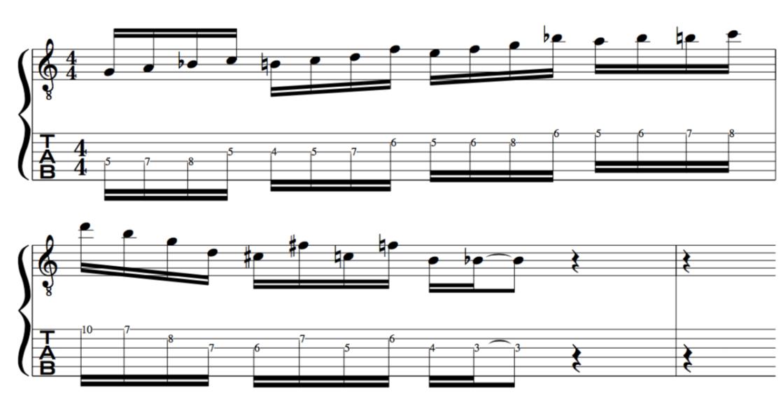 G Dorian Bebop scale  for jazz