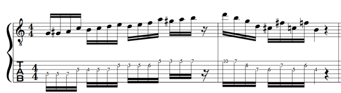 major be bop jazz scale example