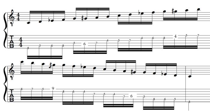 melodic minor bebop scale jazz improvising example