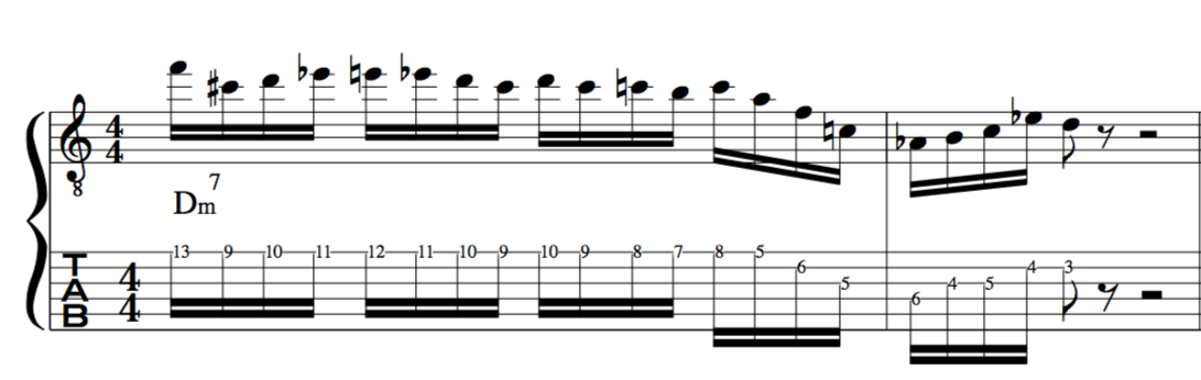 chromatic displacement for jazz improvisation
