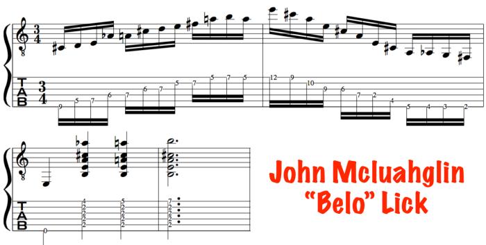 alternate picking John Mclaughlin guitar lesson
