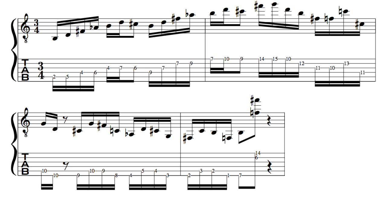 mode 4 messiaen jazz improvisation lick