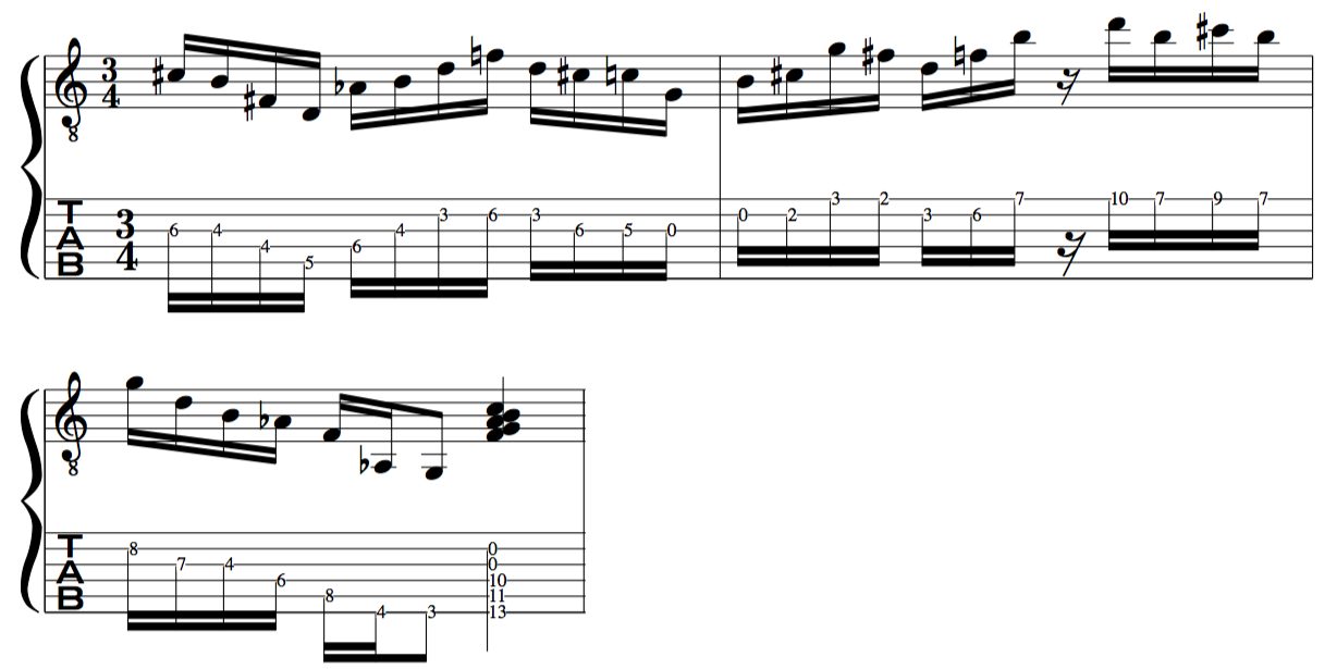 Messiaen 4ths mode of limited transposition