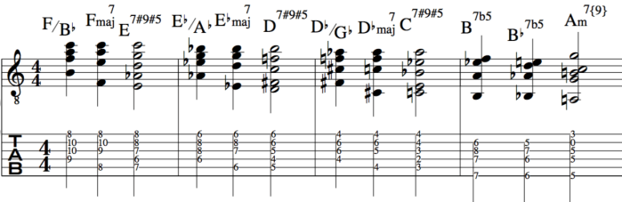 Steely Dan chord sequence guitar and piano