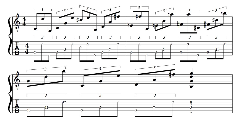 """guitar """"Bach"""" ascending line lesson"""