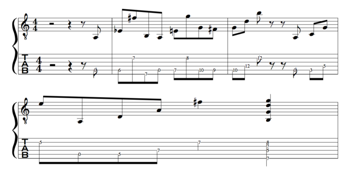 Pick Bach baroque guitar lines