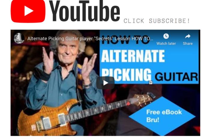 Guthrie Govan alternate Picking guitar