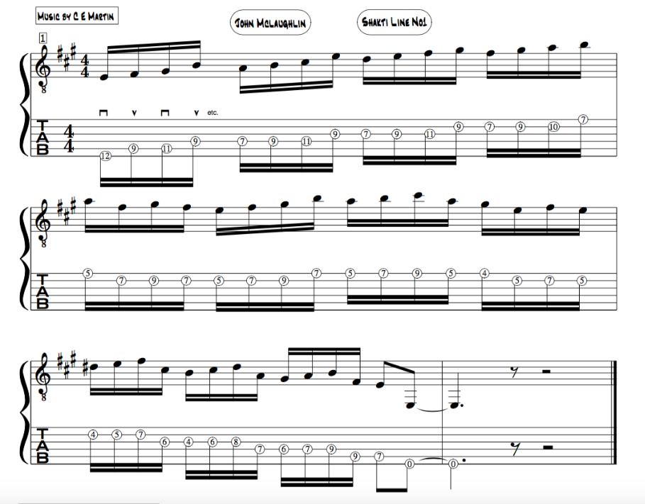 Teen Taal Mclaughlin tabla; guitar 16 beat cycle lesson